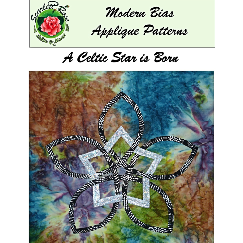 First Additional product image for - A Celtic Star is Born modern bias applique pattern