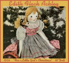 edith flack ackley- 1934 cloth doll pattern -for a little girls christmas