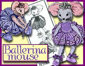 sew a sweet ballerina mouse! 1940's pattern