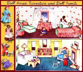 ~make a  1940's dollhouse & family ~vintage pattern