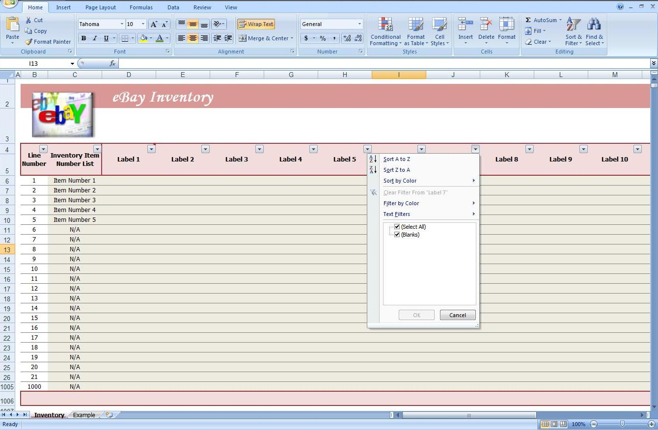 product inventory template 9 free excel pdf documents download