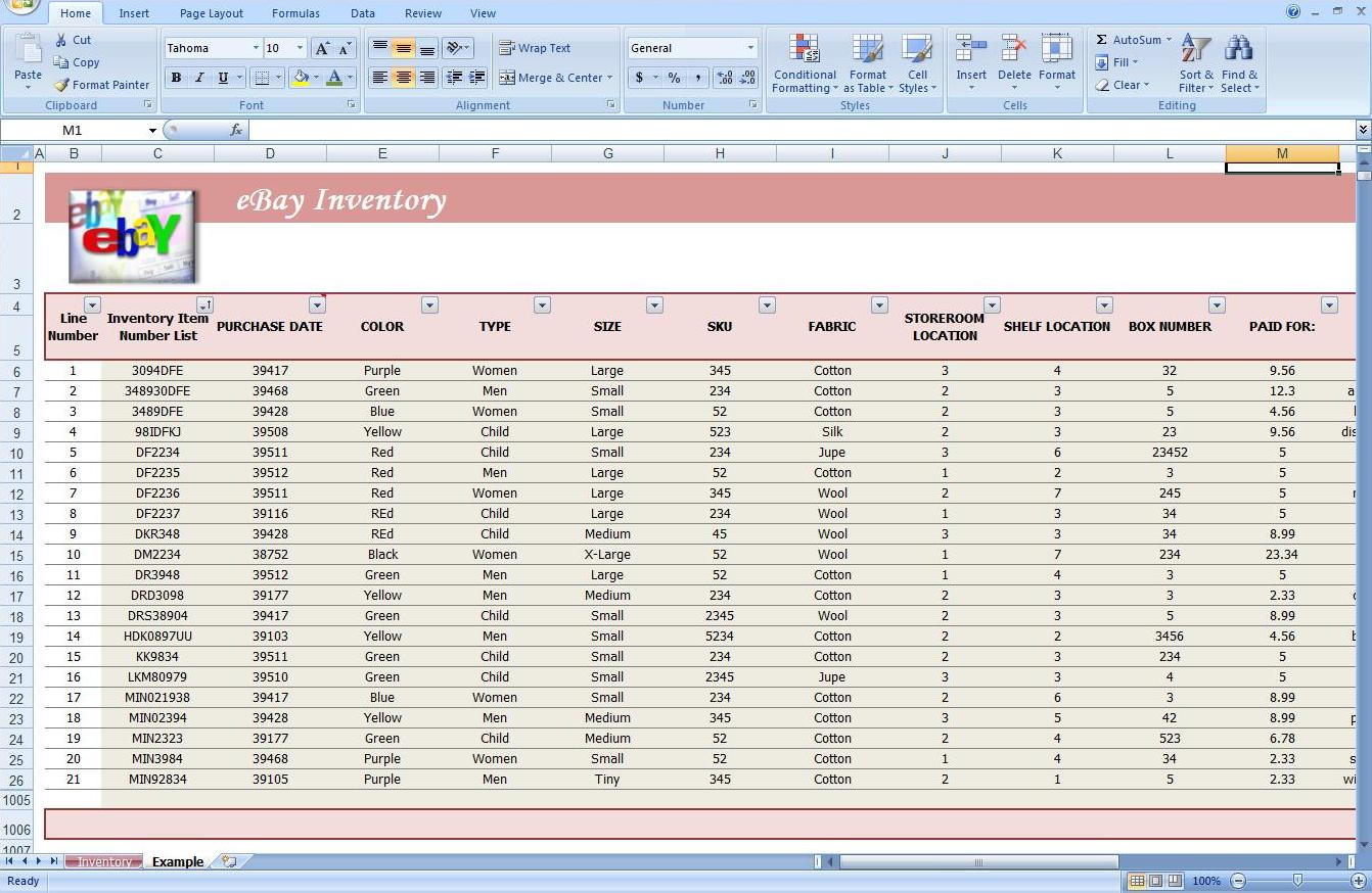 First Additional product image for - Business Inventory Tracking Spreadsheet