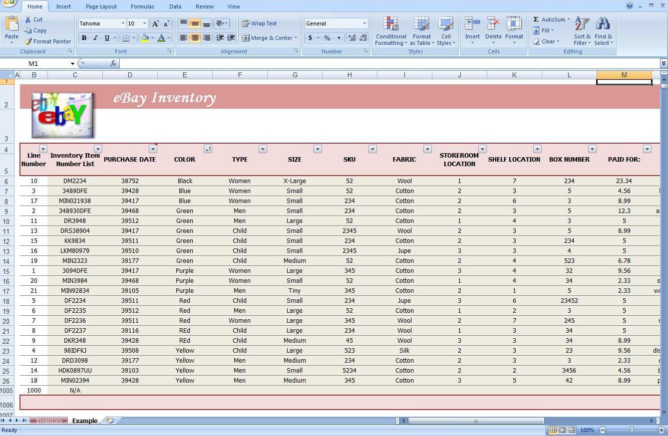 Second Additional product image for - Business Inventory Tracking Spreadsheet