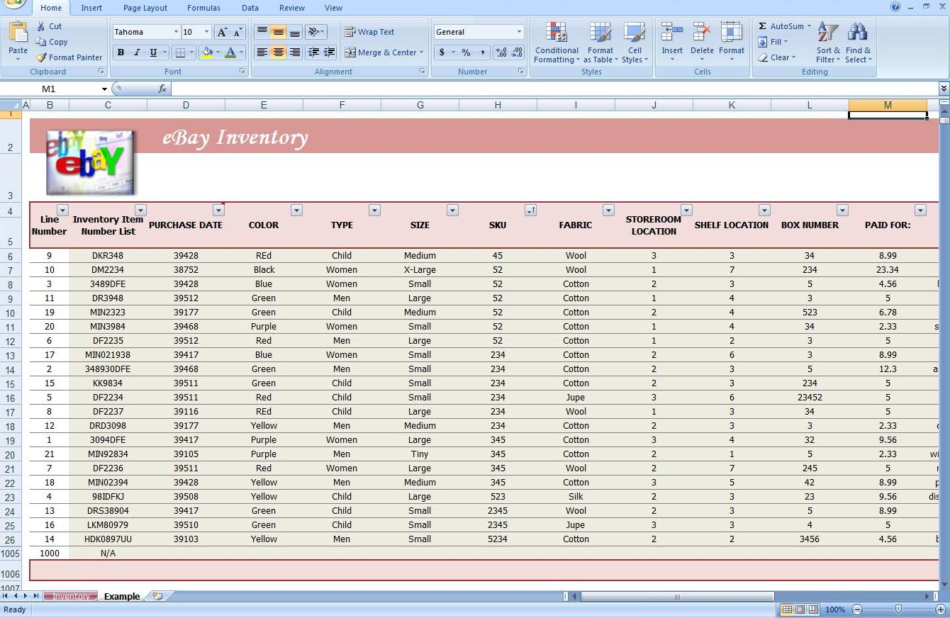 Third Additional product image for - Business Inventory Tracking Spreadsheet