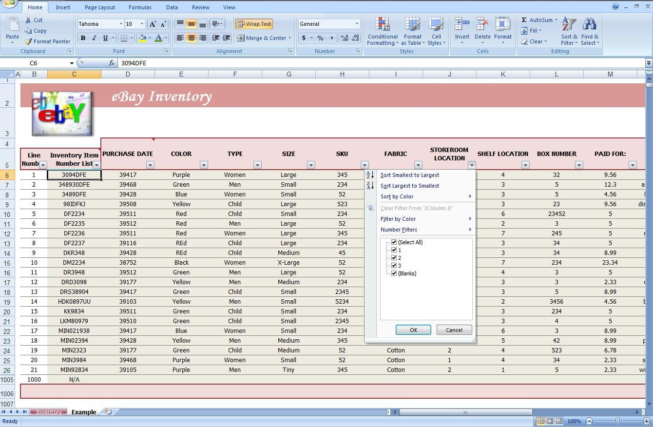 Fourth Additional product image for - Business Inventory Tracking Spreadsheet