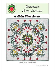a celtic rose garden applique pattern