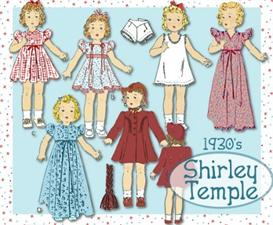 Sew 12 Shirley Temple  6 ADORABLE 1930's Outfits~OLD PATTERN! | eBooks | Arts and Crafts