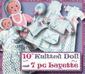 10 doll baby & 9 pc knit layette~1952 pattern | eBooks | Arts and Crafts