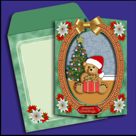 christmas bear pack in green