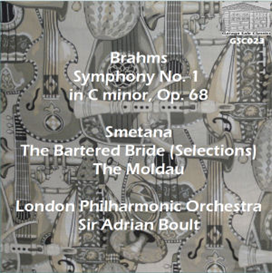"brahms: symphony no. 1; smetana: music from ""the bartered bride""; moldau from ""ma vlast"" - london philharmonic orchestra/sir adrian boult"