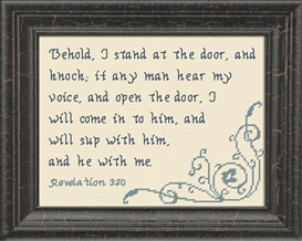 behold i stand at the door - revelation 3:20