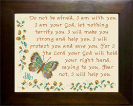 Fear Not - Isaiah 41:10 & 13 | Crafting | Cross-Stitch | Religious