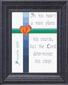 Steps - Proverbs 16:9 | Crafting | Cross-Stitch | Other