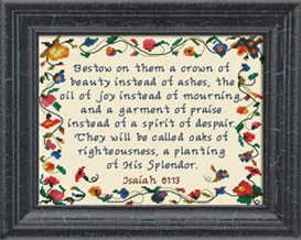 Crown of Beauty - Isaiah 61:3 | Crafting | Cross-Stitch | Other