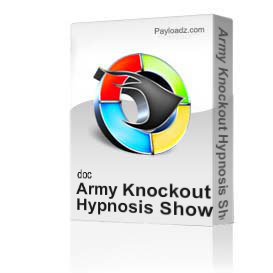 army knockout hypnosis show sample