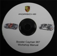 porsche 987 boxster cayman workshop manual