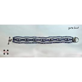 herringbone bezeled crystal bracelet