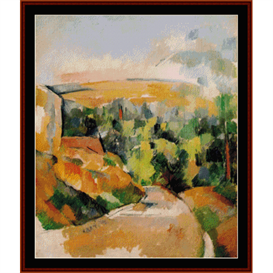 bend in the road, cezanne cross stitch pattern by cross stitch collectibles