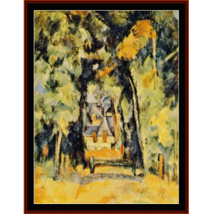 road at chantilly - cezanne cross stitch pattern by cross stitch collectibles