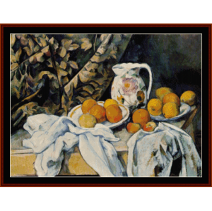 Still Life with Drapery - Cezanne cross stitch pattern by Cross Stitch Collectibles | Crafting | Cross-Stitch | Wall Hangings