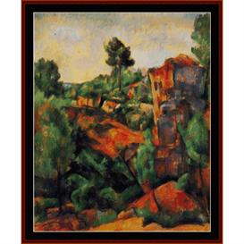 Bibemus Quarry - Cezanne cross stitch pattern by Cross Stitch Collectibles | Crafting | Cross-Stitch | Wall Hangings