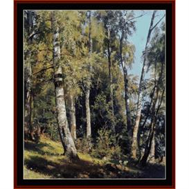 birch grove - shishkin cross stitch pattern by cross stitch collectibles