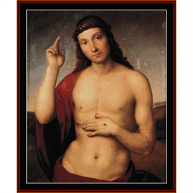 the blessing christ - raphael cross stitch pattern by cross stitch collectibles