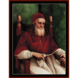 Portrait of Julius II - Raphael cross stitch pattern by Cross Stitch Collectibles | Crafting | Cross-Stitch | Other