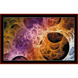 fractal 365 cross stitch pattern by cross stitch collectibles