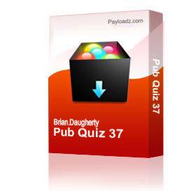 pub quiz 37