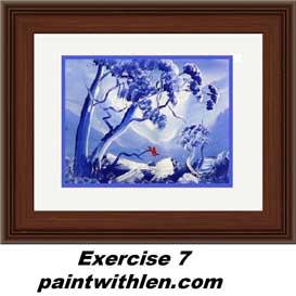 7 paint blue mountains