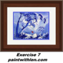 7 Paint blue mountains | Movies and Videos | Educational