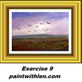 9 paint a sky