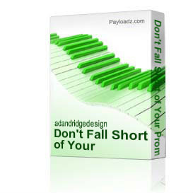 Don't Fall Short of Your Promise | Music | Gospel and Spiritual