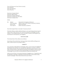 auto accident claim letter