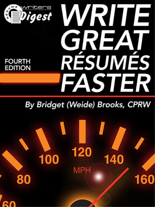 First Additional product image for - Write Great Resumes Faster Fourth Edition