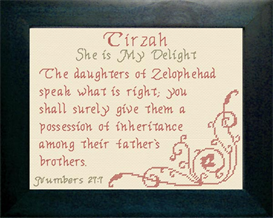 name blessings -  tirzah