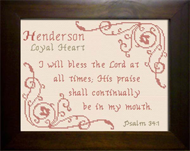 Name Blessings -  Henderson | Crafting | Cross-Stitch | Religious
