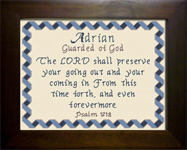 Name Blessings -  Adrian 3 | Crafting | Cross-Stitch | Religious