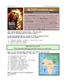blood diamond, whole-movie english (esl) lesson