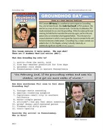 groundhog day, whole-movie english (esl) lesson