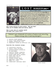 LOST HORIZON, Whole-Movie English (ESL) Lesson | eBooks | Education