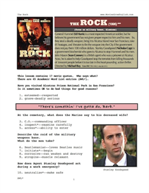 the rock, whole-movie english (esl) lesson