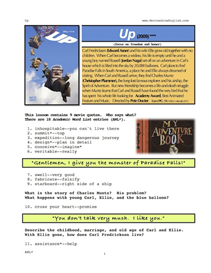 UP, Whole-Movie English (ESL) Lesson | eBooks | Education