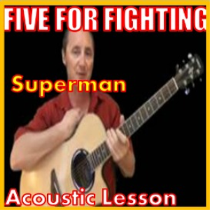 learn to play superman by five for fighting