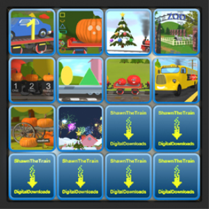 ten educational videos with shawn the train and free coloring pages