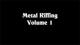 metal riffing