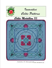 celtic medallion iii applique pattern