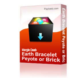 earth bracelet peyote or brick stitch pdf