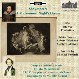 shakespeare: a  midsummer night's dream - old vic 1954 performance